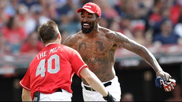 J.R. Smith removes shirt just like old times during MLB All-Star Celebrity Softball Game