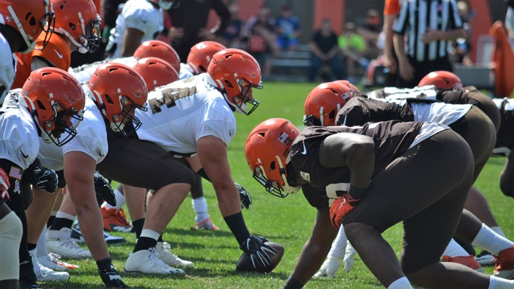 JC Tretter Cleveland Browns training camp August 10, 2019