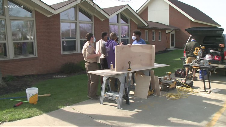 Northeast Ohio Boy Scout Troop 399 working together after trailer filled with supplies stolen
