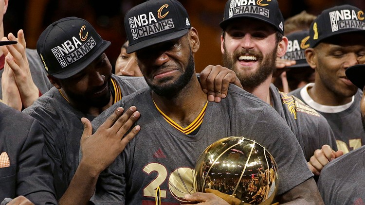 LeBron James Kevin Love Cleveland Cavaliers win 2016 NBA championship