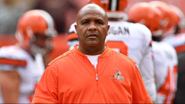 Browns Coach Hue Jackson Making Good On Promise To Jump Into Lake