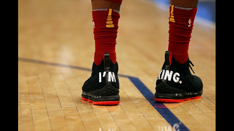 3cce9e3f5146 Was Cleveland Cavaliers SF LeBron James sending message with latest pair of  sneakers