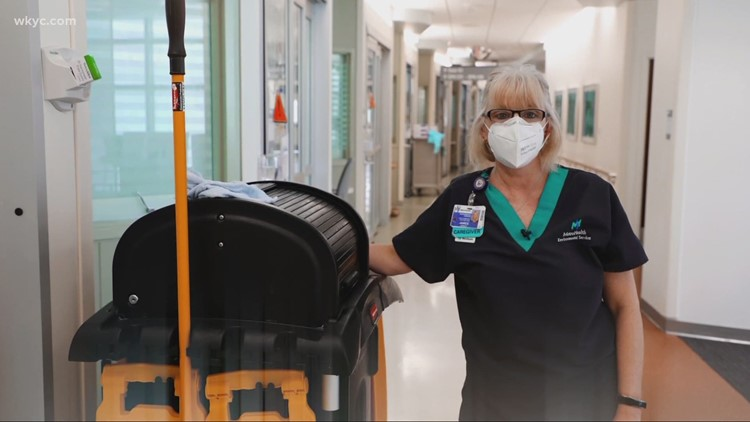 Health Heroes: Woman brings love for cleaning and patients to MetroHealth
