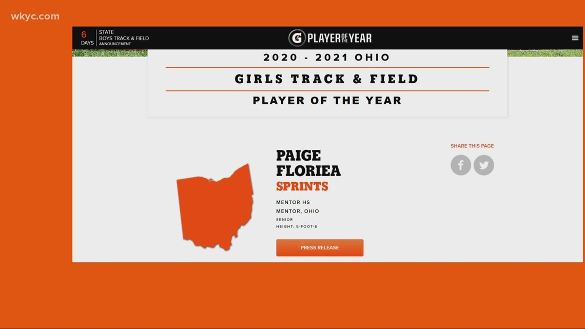 Clicking in Cleveland: Mentor High School athlete named Gatorade Player of the Year
