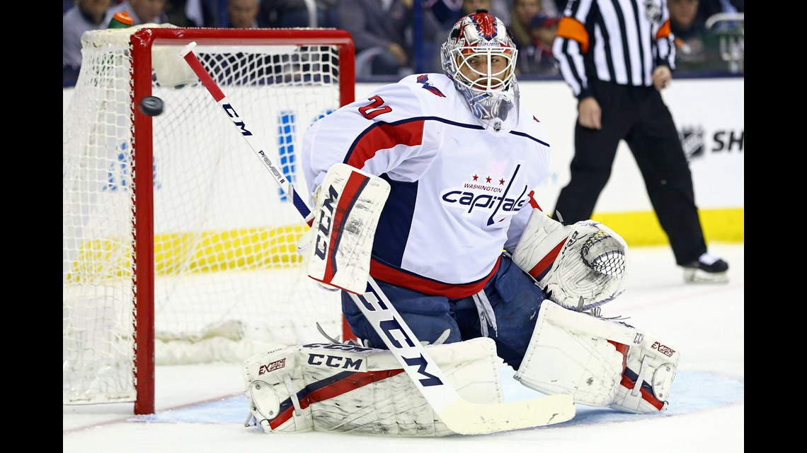 25d6bbe948d Washington Capitals goaltender Braden Holtby (70) makes a save in net  against the Columbus Blue Jackets in the first period in Game 4 of the first  round of ...