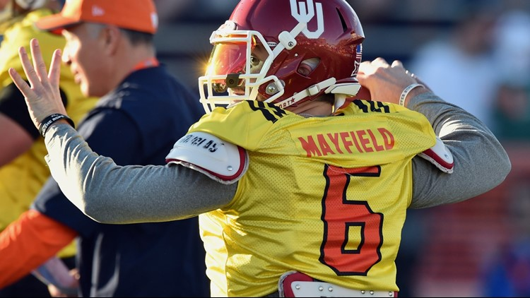6061fc945 Cleveland Browns QB Baker Mayfield believes Oklahoma s system more complex  than  air-raid  offense