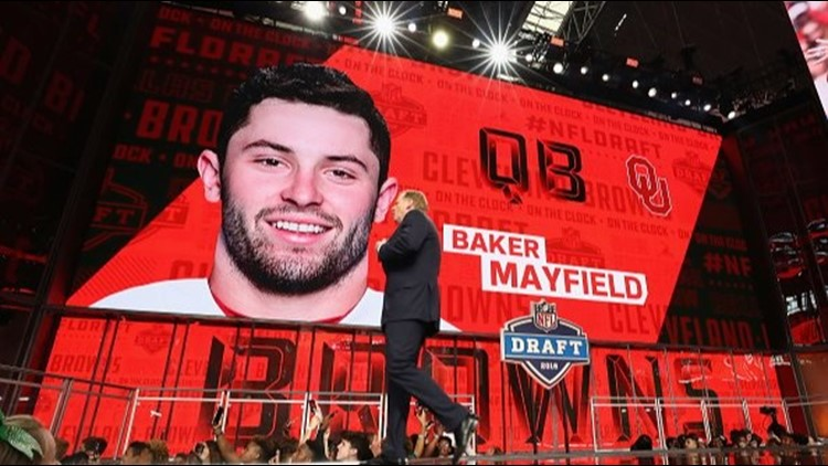 cffa2dfc333 Cleveland Browns draft Baker Mayfield with first overall pick of 2018 NFL  draft