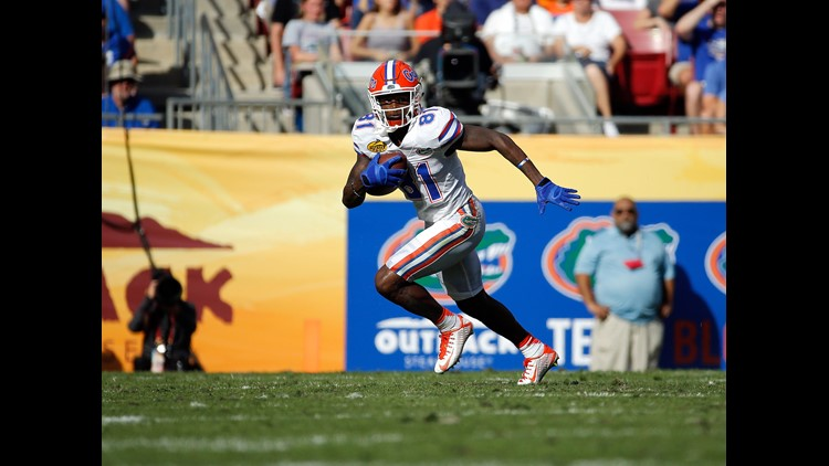 Browns trade up to pick No. 105, select Antonio Callaway