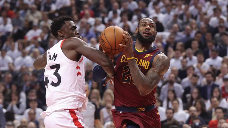 f0ebc9bcf389 Social media reacts to LeBron James  unstoppable Game 2 performance vs.  Toronto Raptors