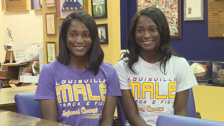 Mikayla and Miranda Morton are both seniors at Male High School, identical twins, and are graduating with perfect attendance.