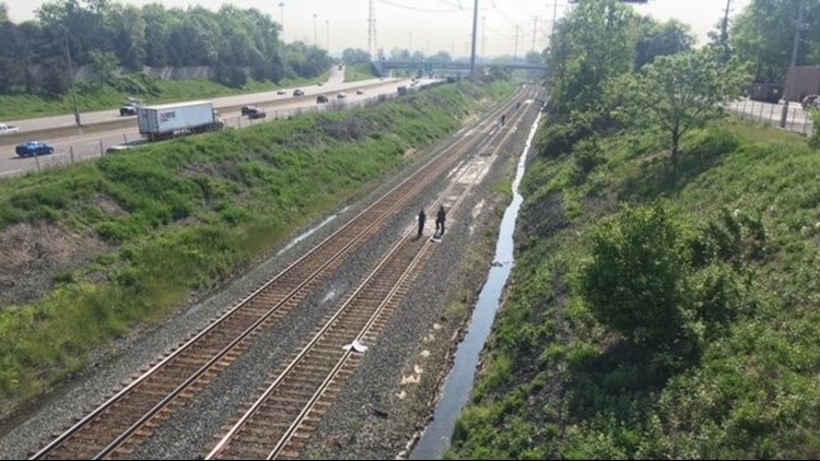 Her body was found on the tracks Thursday afternoon.