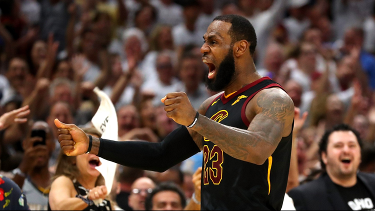 LeBron James scored 46 points in the Cleveland Cavaliers' 109-99 victory over the Boston Celtics in Game 6 of the Eastern Conference Finals on Friday night.