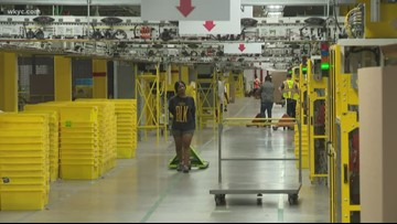 Amazon offers peek inside North Randall fulfillment center