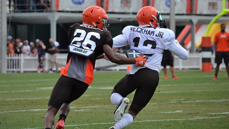 Greedy Williams Odell Beckham Jr. Cleveland Browns Training Camp July 31, 2019