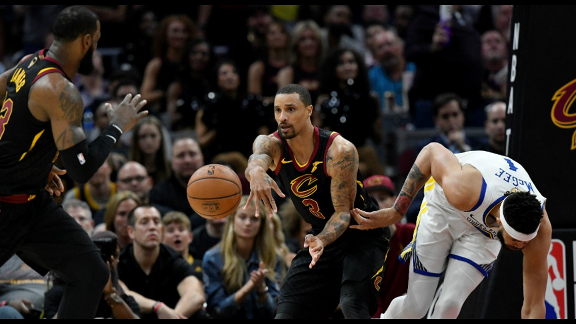 1acdc808b71 ... outlets the ball to LeBron James in transition against the Golden State  Warriors in Game 3 of the 2018 NBA Finals at Quicken Loans Arena in  Cleveland.