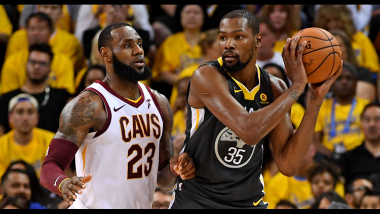 9c2cf65e8315 Kevin Durant trolls LeBron James after Golden State Warriors sweep  Cleveland Cavaliers in NBA Finals