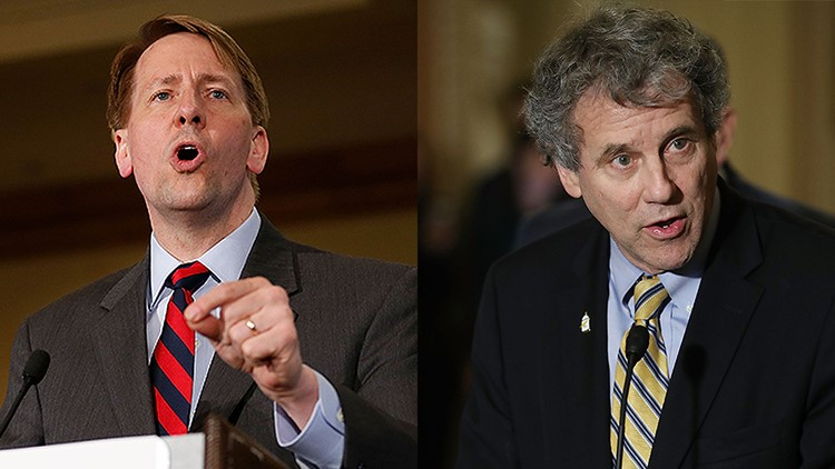 A poll showed Richard Cordray leading Mike DeWine in the race for governor by seven points, while incumbent U.S. Sen. Sherrod Brown leads Jim Renacci by 16 points.