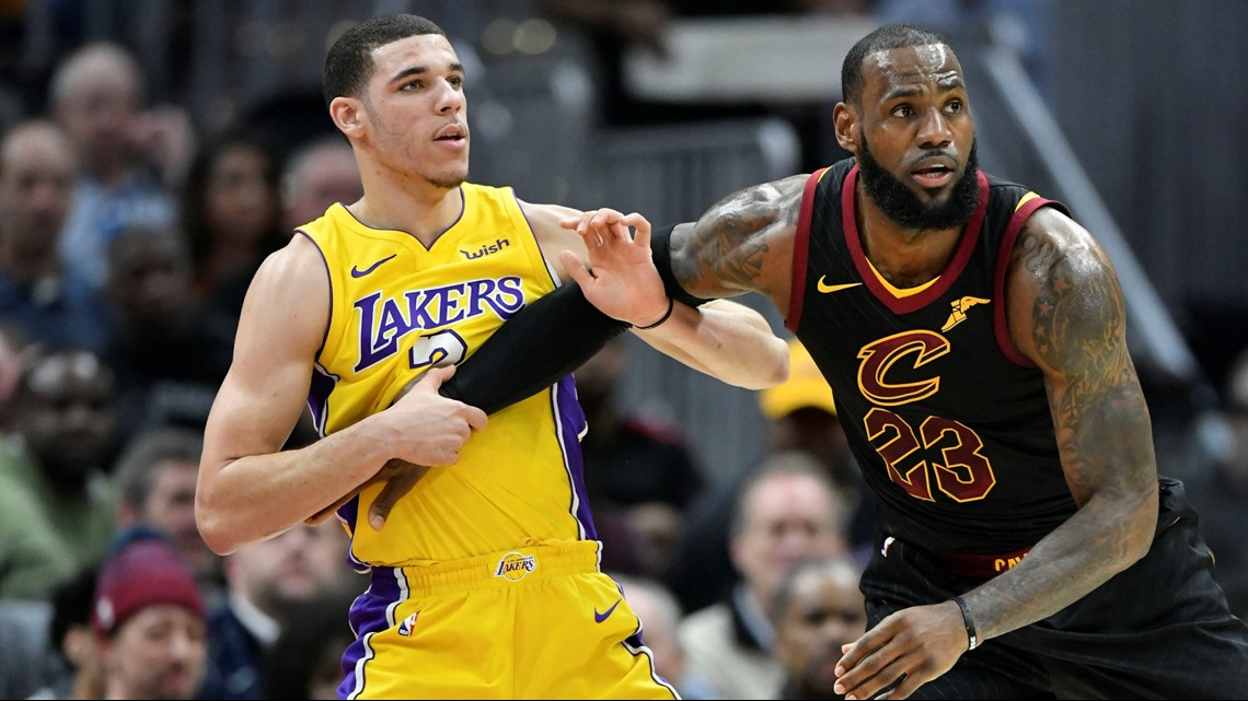 a4b1e187ee9 REPORT  Lonzo Ball out if Cleveland Cavaliers SF LeBron James joins Los  Angeles Lakers