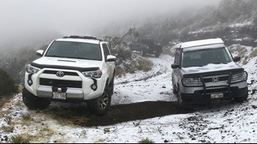 Hawaii mountain gets share of 'extreme winter conditions'