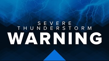 Severe Thunderstorm Warning in effect for several Northeast Ohio counties