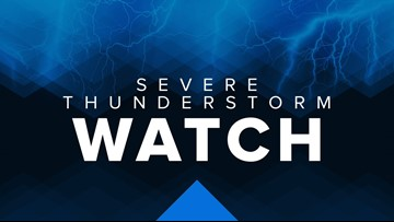 Severe Thunderstorm Watch for much of northern Ohio til 10 pm