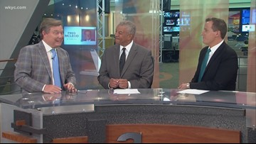 Russ Mitchell, Jim Donovan, and Nick Camino pay tribute to the life of Cleveland Cavaliers announcer Fred McLeod