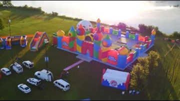 FIRST LOOK | World's largest bounce house arrives in North Ridgeville: Photos, video