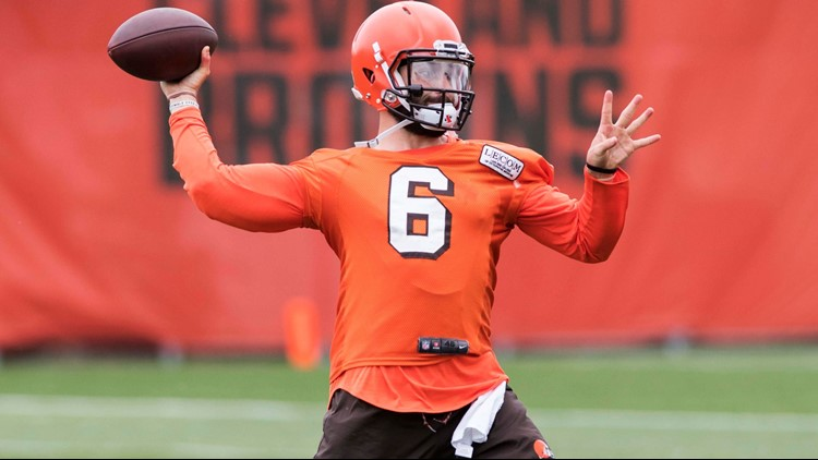 9066f4b9614 Twitter can t figure out what Cleveland Browns QB Baker Mayfield s  personalized logo is