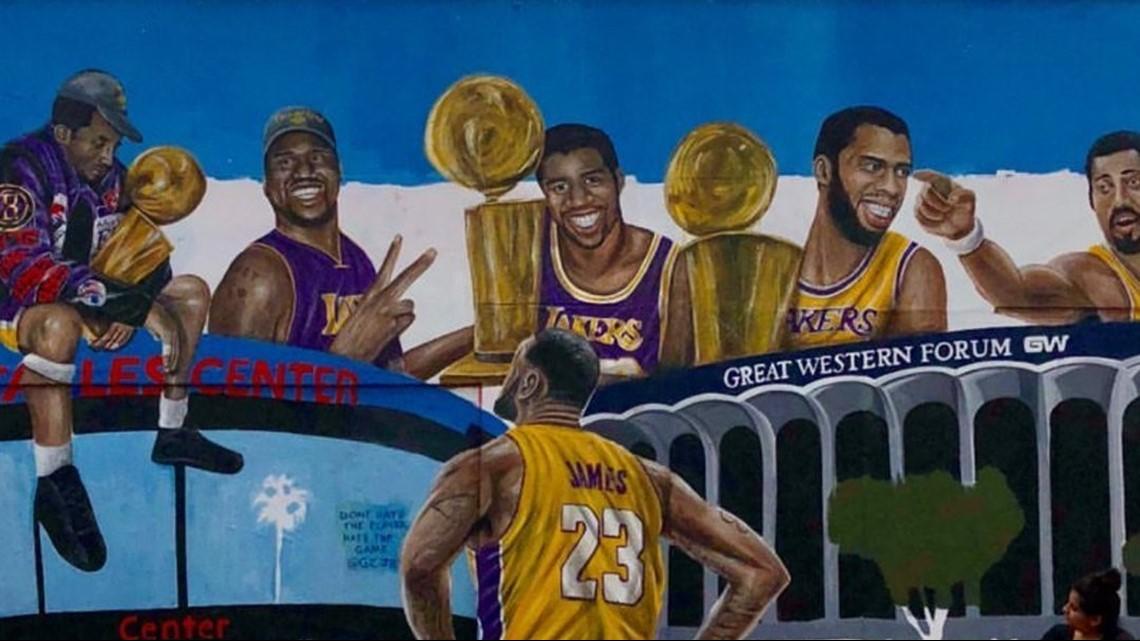 Los Angeles Artist Erects New Lebron James Mural Wkyc Com