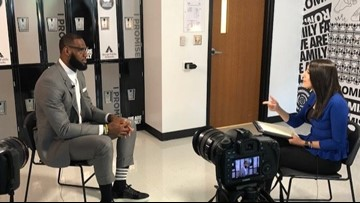 LeBron James sits down with WKYC's Amani Abraham to talk new school, basketball future