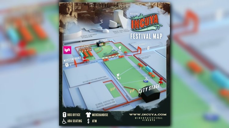 Festival layout