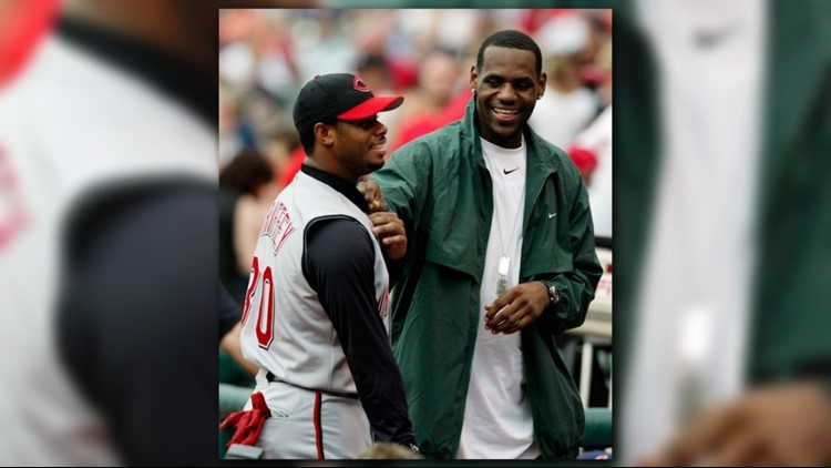 dd39ae9d3f LeBron James channels Ken Griffey Jr. with Instagram photo of his bat flip