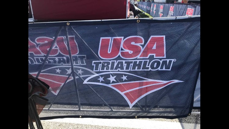 The race has been changed from a triathlon to a duathlon because of strong currents on Lake Erie.