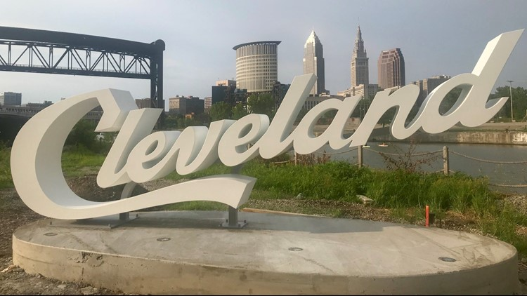 Destination Cleveland announced a location for its sixth Cleveland sign, along the Cuyahoga River at The Foundry.