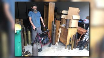 Lake County neighborhood evacuated over man's World War II collection