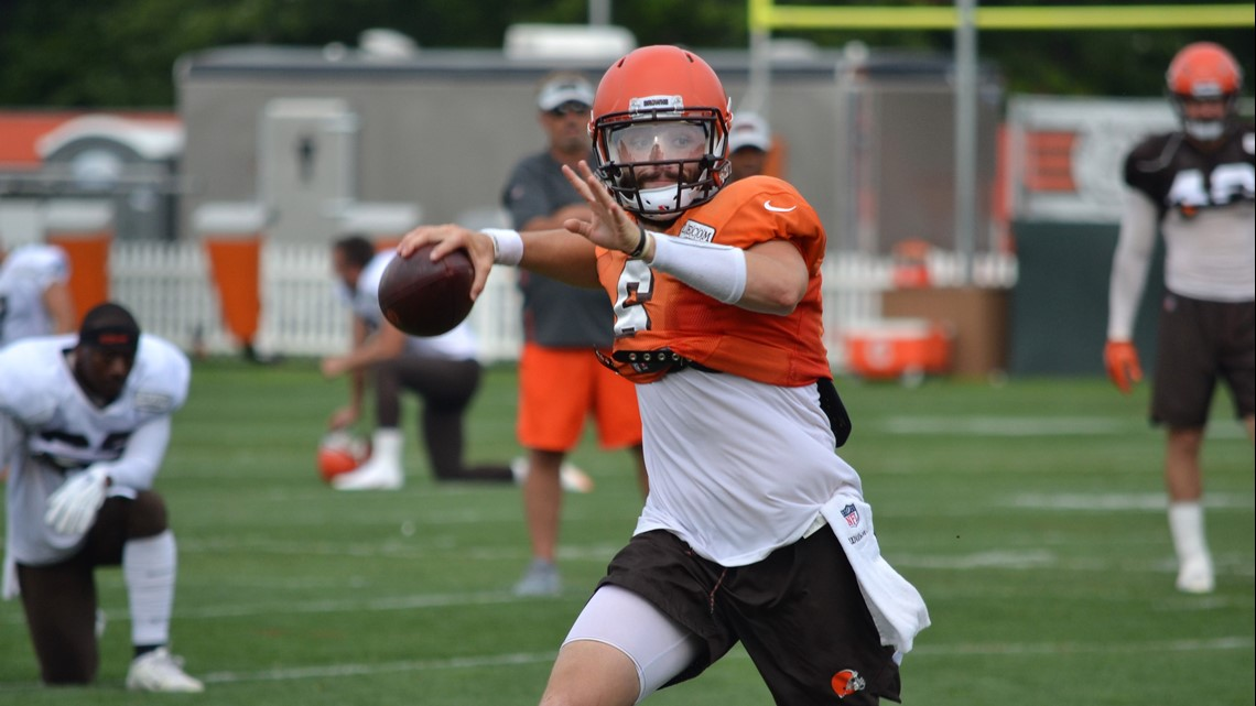 e0de0b91 Baker Mayfield takes ribbing from Cleveland Browns teammates for ...