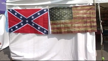 Social media reacts to Confederate flag being sold at Lorain County Fair