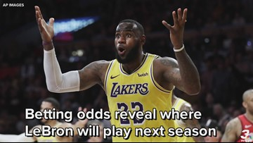 LeBron James favored to remain with Lakers, Cavaliers given