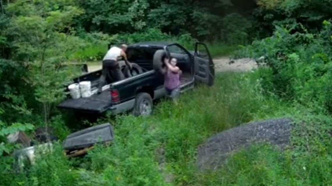 Couple caught dumping trash in Ohio wildlife preserve: Video | wkyc com