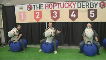 Cleveland Winter Beerfest: Racing in the 'Hoptucky Derby'