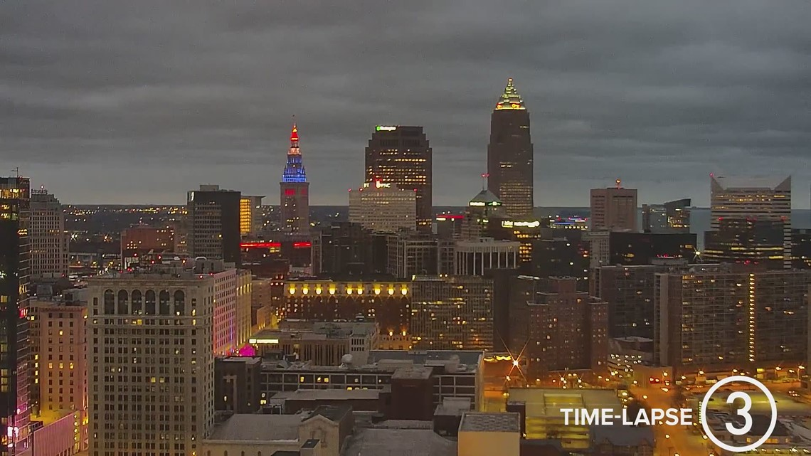 Friday Cleveland all-day weather time-lapse for January 29, 2021