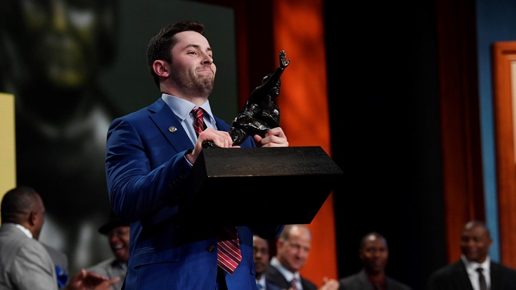 Cleveland Browns rookie quarterback Baker Mayfield has moved into ESPN's Heisman House.