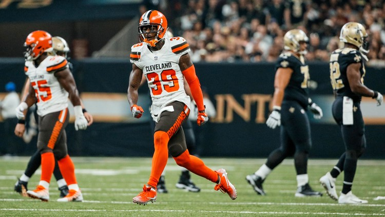 The Cleveland Browns forced two first-half turnovers against the New Orleans Saints at Mercedes-Benz Superdome.
