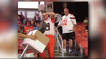 Rally possum' becomes viral sensation as Cleveland Browns