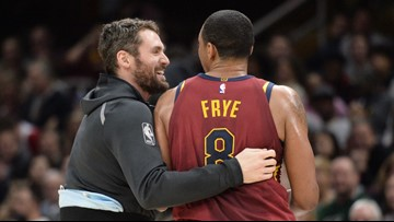 buy online 6f1a8 03b6c Watch: Channing Frye takes over LeBron James' old Cleveland ...
