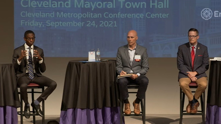 Justin Bibb vs. Kevin Kelley: Cleveland mayoral candidates participate in town hall moderated by 3News' Mark Naymik
