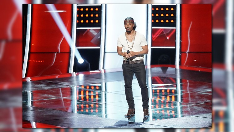 Local NBC 'The Voice' contestant Franc West fight for votes with debut live performance