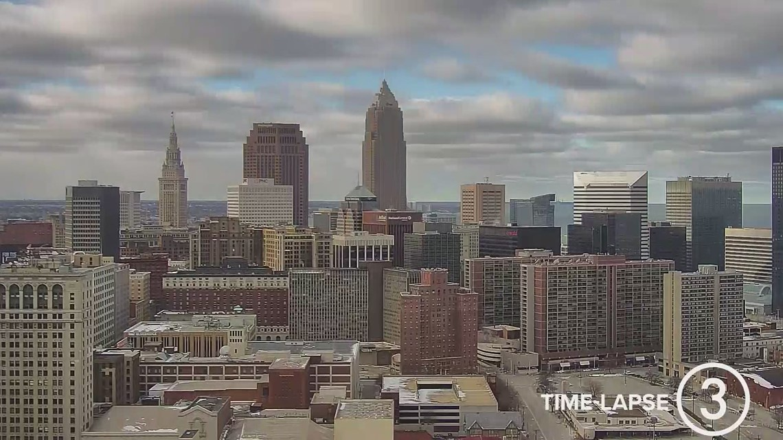 Saturday Cleveland weather time-lapse for January 23, 2021
