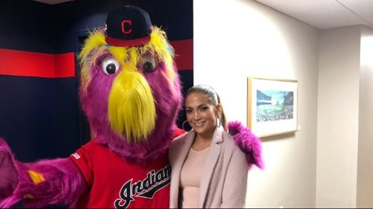Image result for Jennifer Lopez Makes Appearance At Sunday's Indians Game