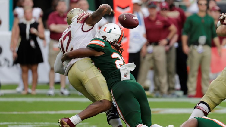 Sheldrick Redwine Florida State Miami Football
